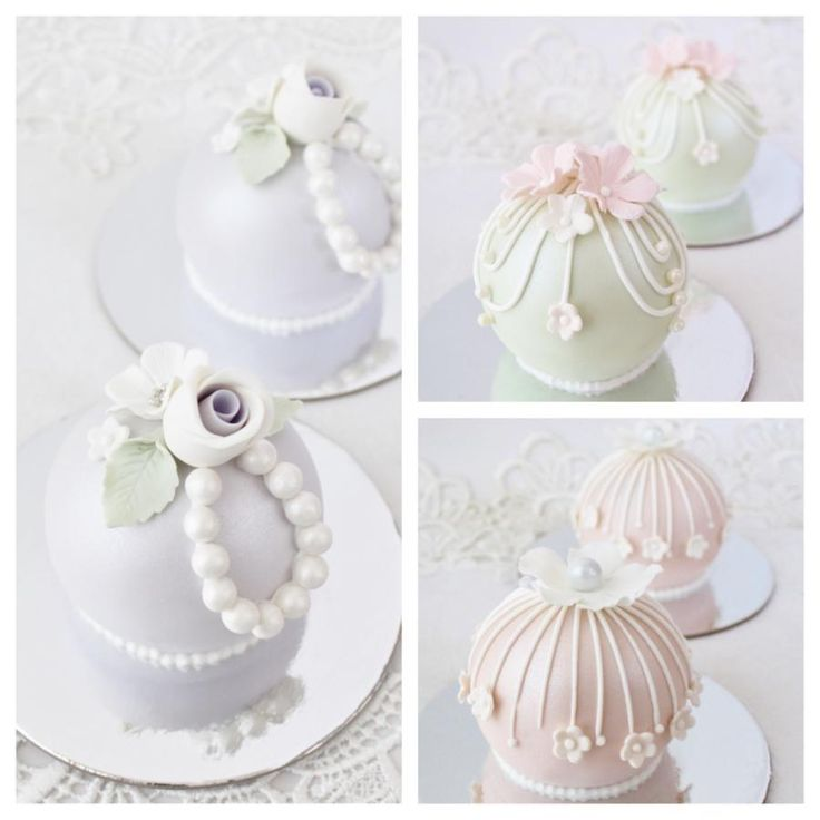 Bauble beauties - Cake by cakes2kreate bauble cakes, sphere cakes, mini cakes, vintage style, wedding favours