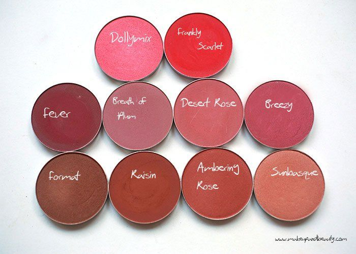 10 MAC blush for dark skin: