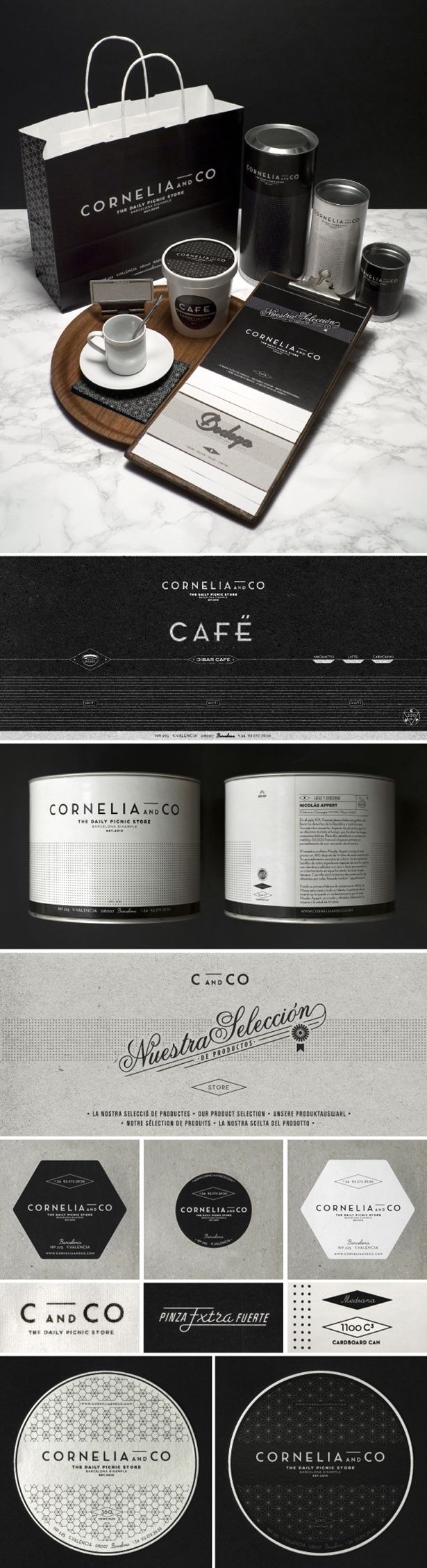 Cornelia and Co Barcelona Daily Picnic Store Branding Packaging via www.mstetson.com