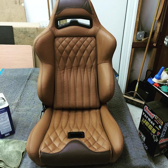 Front seat is done in the 1966 Mustang Coupe. #66mustang #mustang #custominterior #customseats #custominterior #jngcreations