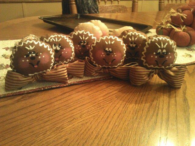 Weekend Gingerbread Ornaments ;-)