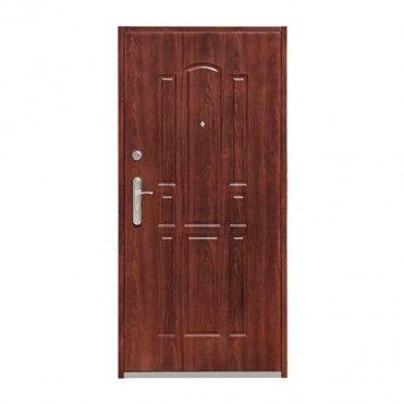 Drzwi wejściowe wewnątrzklatkowe stalowe Splendoor Zeus 80 prawe mahoń