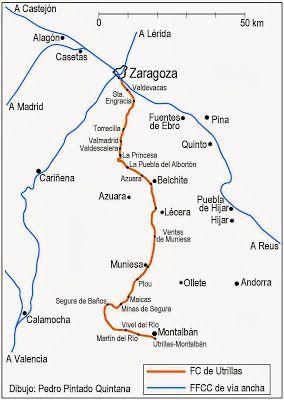 El ferrocarril de Utrillas a Zaragoza