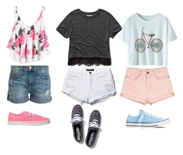 """"""""""" by camigy on Polyvore featuring Current/Elliott, Abercrombie & Fitch, Vans, Keds and Converse"""