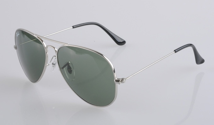 Ray Ban Aviator 3025 Silver Frame Green Lens Ray Ban Glasses