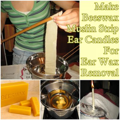 The Homestead Survival | Make Beeswax Muslin Strip Ear Candles For Ear Wax Removal | http://thehomesteadsurvival.com