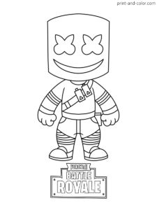 Fortnite coloring pages Print and Color FORTNITE