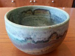 Pottery Serving Bowl, Small Blue