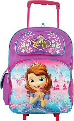 Disney Junior Sofia the First Lovely Castle 16' Large Rolling Backpack. #Disney #Junior #Sofia #First #Lovely #Castle #Large #Rolling #Backpack