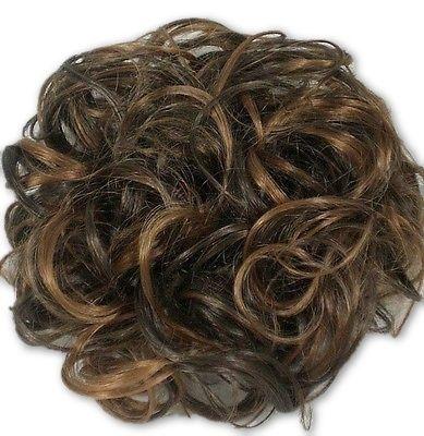 Ex-Large Curly hair ponytail holder Scrunchie Hairpiece