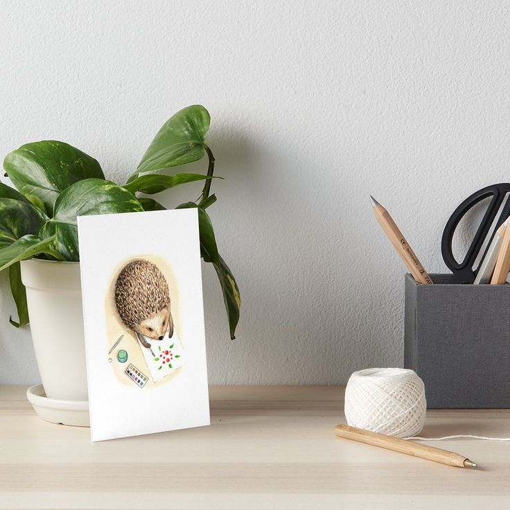 A hedgehog paint with watercolor by Alla Rinchino