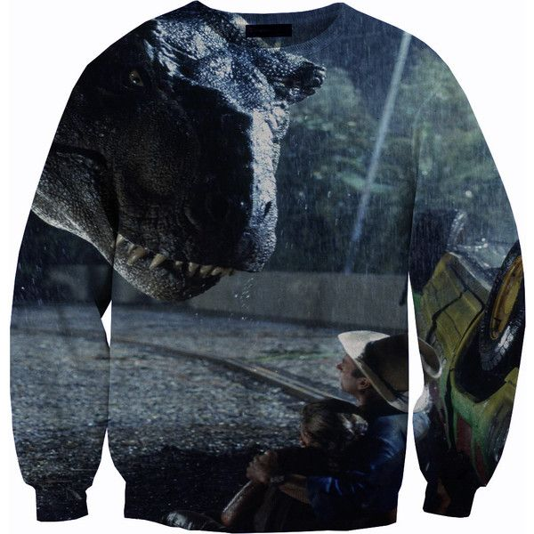 The 9 best old school images on pinterest crew neck sweatshirt jurassic park sweater crewneck sweatshirt 56 found on polyvore featuring tops hoodies gumiabroncs Gallery