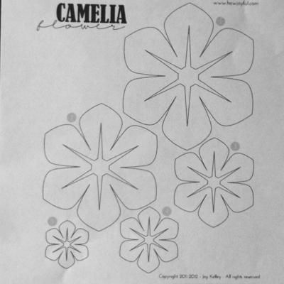 Fabric Flowers Template