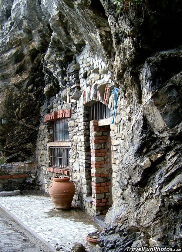 Unique House Built Into The Rock Hill in Terre, Italy.  Go to www.YourTravelVideos.com or just click on photo for home videos and much more on sites like this.
