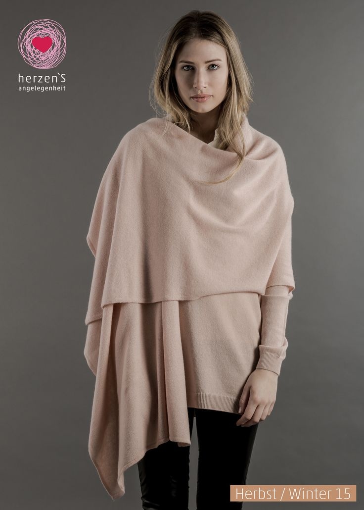 6153- 5007 poncho / cape, cover yourself all over cashmere, just imagen how warm it could be #cashmere #herzensangelegenheit #herzens #winterfashion