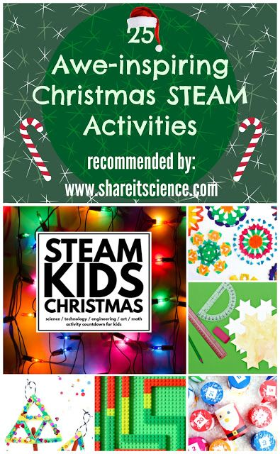 Share it! Science News : 25 Engaging STEAM Projects for the Season: STEAM Kids Christmas. Science, Technology, Engineering, Art, and Math activities for kids!