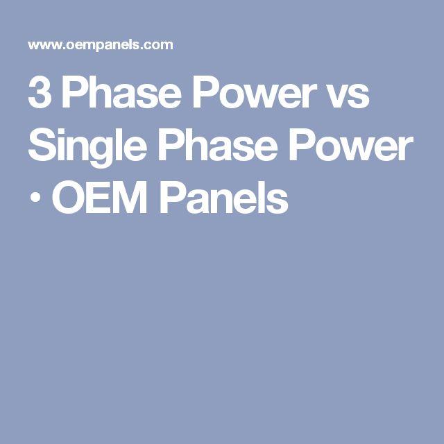 3 Phase Power vs Single Phase Power • OEM Panels