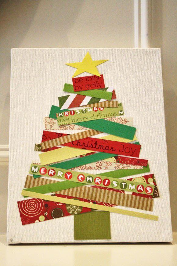 Washi tape Christmas decorations