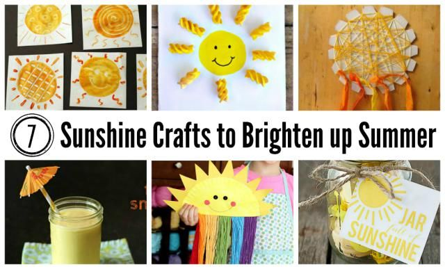 Sunshine jar with yellow things 7 Sunshine Crafts to Brighten Up Summer