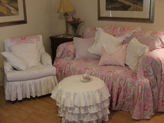 102 best images about shabby chic sofa slipcovers on pinterest chair slipcovers ottoman. Black Bedroom Furniture Sets. Home Design Ideas