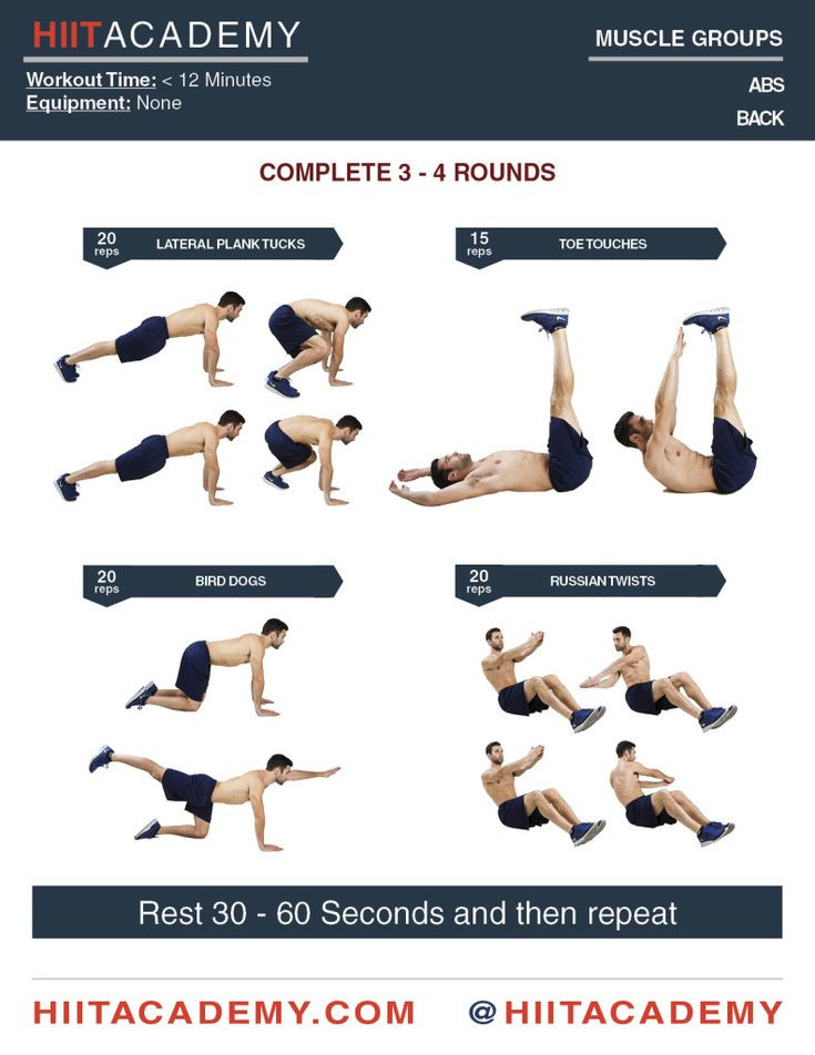 Strengthen Your Core With Only These 4 Exercises Hiit