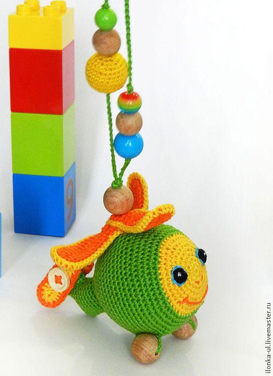 """Развивающие игрушки ручной работы. Ярмарка Мастеров - ручная работа Подвеска-погремушка """"Вертолетик"""". Handmade."""