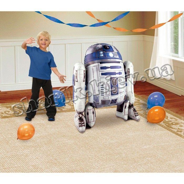 Ходячая фигура R2D2 воздушный шар. #R2D2 #StarWars #ЗвездныеВойны #МирШариков #ВоздушныеШары