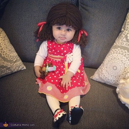 Mahvesh: This is my daughter as a cabbage patch doll! She is 6 months old! We always thought she resembled a doll and what other doll would be so comparative then...