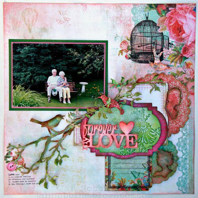 Sizzix Die Cutting Inspiration and Tips: My Forever Love Layout