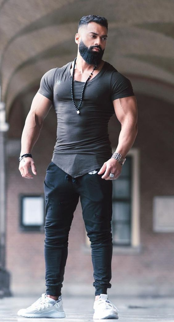 Macho Hunk Man In 2019  Beard Styles For Men, Hunks Men -6817