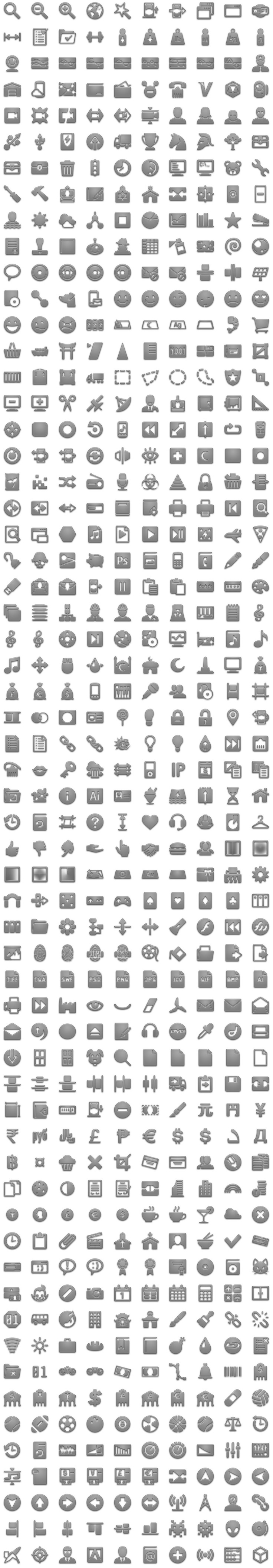 The most complete android icons collection, with roughly 15000 unique android icons, including ALL sizes and variations and following android standards.