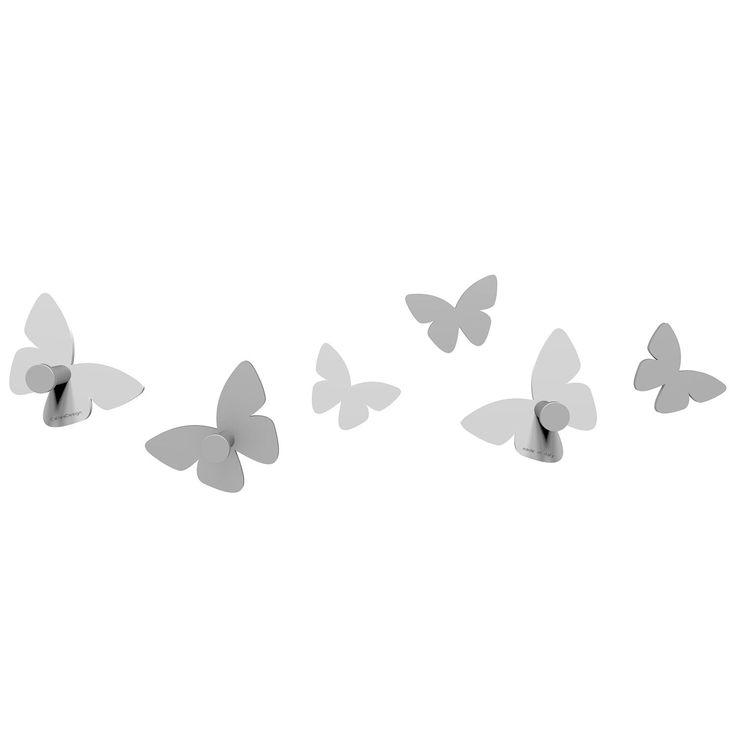 Perchero Millions of butterflies de CalleaDesign. Estructura en madera DM a elegir entre diferentes colores. ¡Millones de mariposas que posar donde quieras!