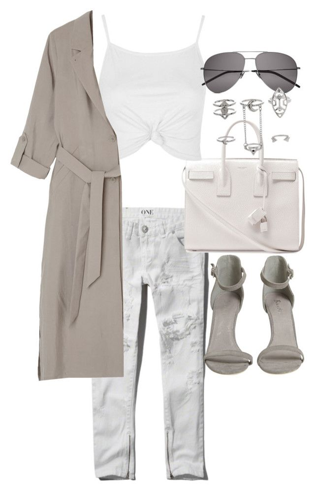 """Untitled #19977"" by florencia95 ❤ liked on Polyvore featuring Topshop, Abercrombie & Fitch, Yves Saint Laurent and Monki"