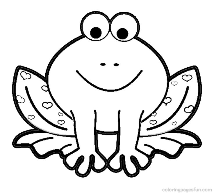 71 best Frog coloring pages images on Pinterest Frog coloring