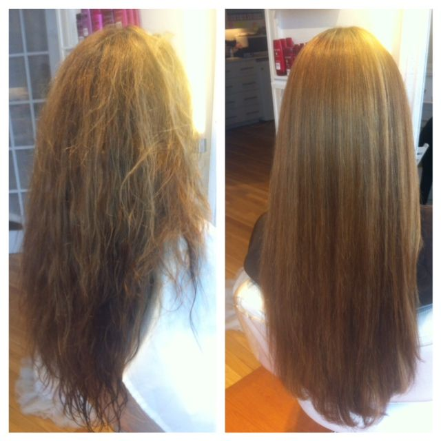 Before and after thermafuse straightening treatment vegan hair smoothing treatment at megan - Salon straightening treatments ...