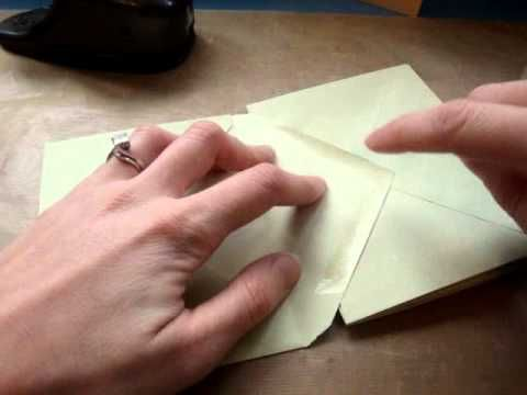 Video-Anleitung für Minialbum aus C6-Briefumschlägen (aneinander geklebt, mit Taschen und Eingriff) Papercraft star - Envelope mini album tutorial