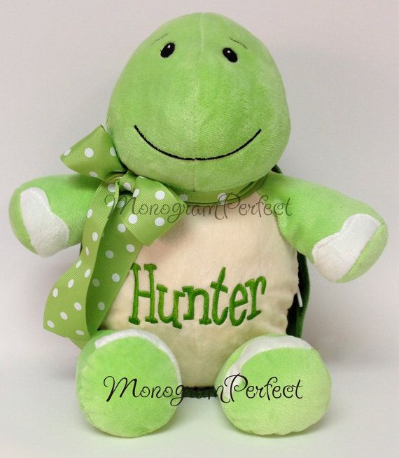 Hey, I found this really awesome Etsy listing at http://www.etsy.com/listing/101113786/personalized-monogrammed-stuffed-turtle