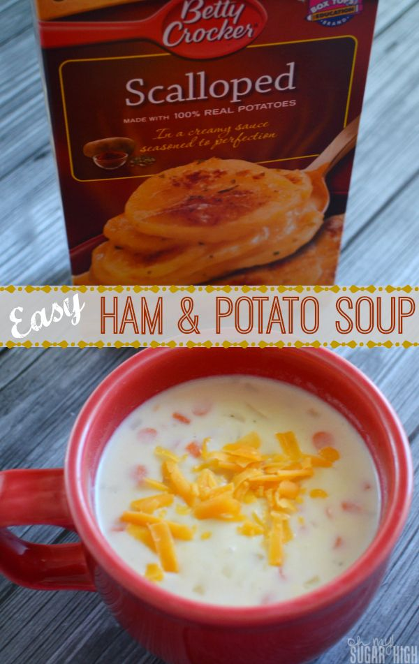 Ham Potato Soup: Quick & Easy recipe #sponsored