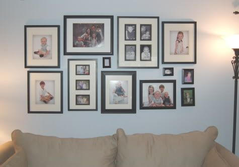 DIY wall frame photo collage instructions.: Wall Collage, Photo Collage, Wall Decor, Wall Frames, House Ideas, Pictures Collage, Frames Pictures, Frames Photo, Frames Collage