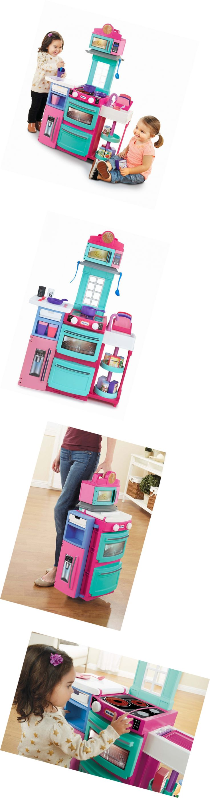 Child Size 2574: Little Tikes Cook N Store Kitchen Playset - Pink -> BUY IT NOW ONLY: $55 on eBay!