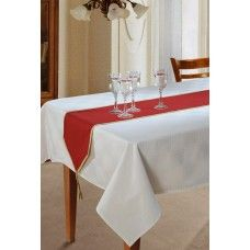 MACARIO'S FINE QUALITY REVERSIBLE TABLE RUNNER RED 31X255CM