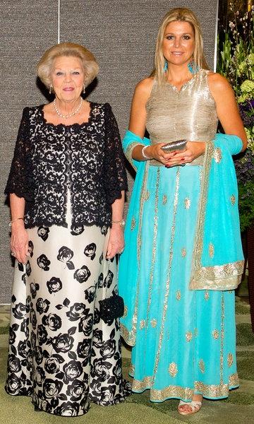 Princess Beatrix and Queen Maxima