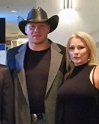 WWE Superstar Brock Lesnar and his wife Rena Lesnar, who is former WWE Diva Sable #WWE #TotalDivas #wwecouples #wwewives
