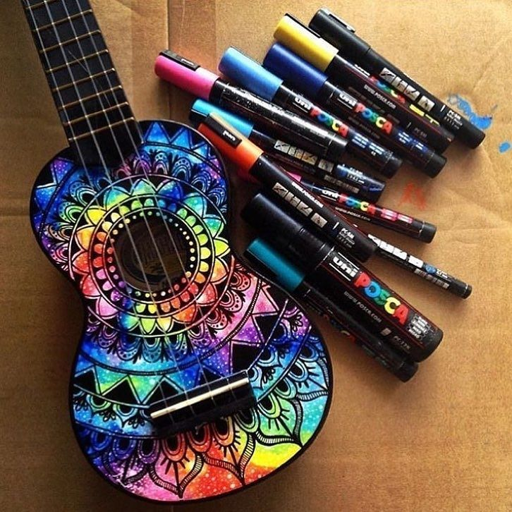 regram @sketch_daily Ukelele Art Artist: @salty_hippie  #sketch_daily
