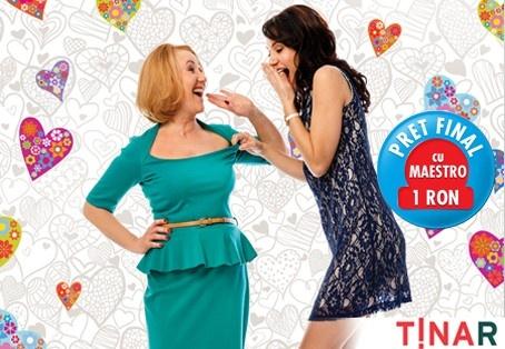 Obişnuiţi să faceţi cumpărături offline de la noi? Hai cu voucherul Fun Deal în magazinele TinaR şi aveţi 40% reducere la îmbrăcăminte, atât cea cu preţ întreg, cât şi cea cu preţ redus!