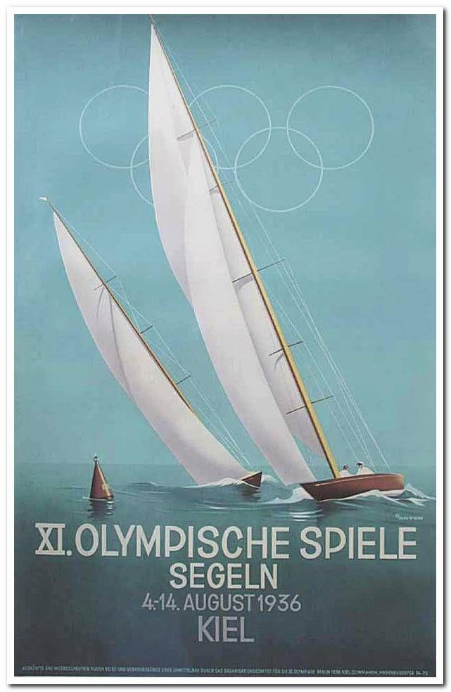 XI.Olympic Games sailing, Kiel (1936)  Artist : Ottomar Anton (1895-1976)