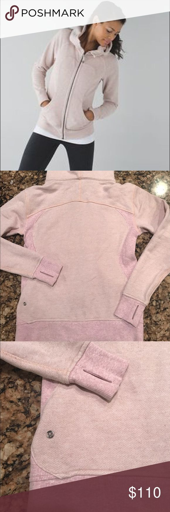 Lululemon hoodie sz 6 Excellent condition pretty pink color similar to bark berry or butter pink. lululemon athletica Tops Sweatshirts & Hoodies