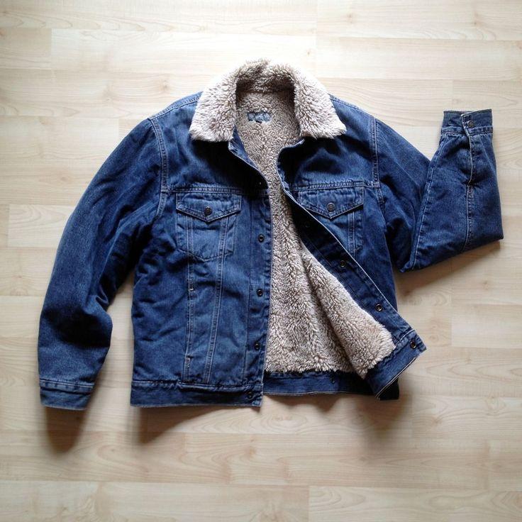 Jeansjacke Jacke Winterjacke Jeans Biker Denim Teddy Fell warm gefüttert Gr. M in Kleidung & Accessoires, Herrenmode, Jacken & Mäntel | eBay