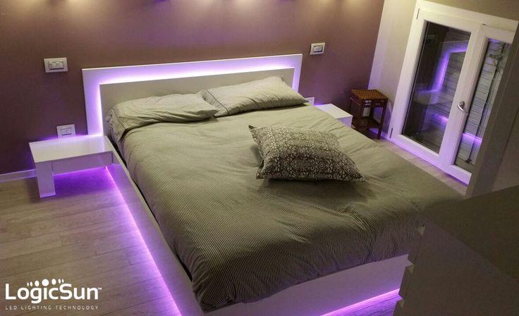 #ILLUMINAZIONE funzionale ed estetica per ogni spazio abitativo. #home #lighting #bedroom #logicsun #led #stripled