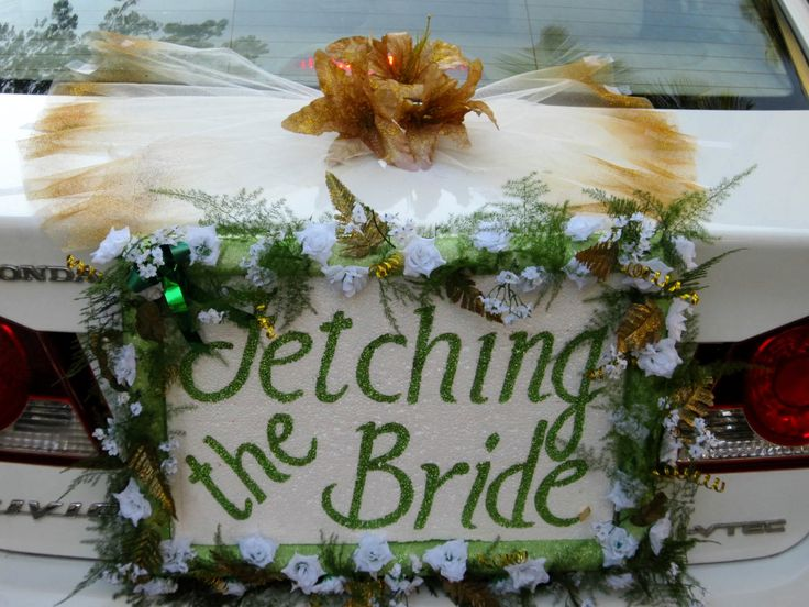 Fetching the bride